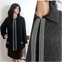 Vintage Sutin of Mayfair Mohair Diamante Evening Jacket Coat Chic S 8 10 36 38