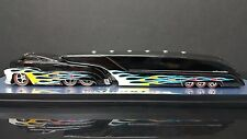 SLEDSTER BLACK WITH FLAMES CUSTOM CREW TRACTOR TRAILER WITH CASE no box