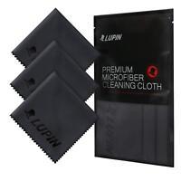 Lupin Microfiber Cleaning Cloths, 3 Pack Premium Ultra Lint Free Polishing Cloth