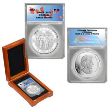 2013 ANACS SP70 $10 O Canada Hockey Silver Coin