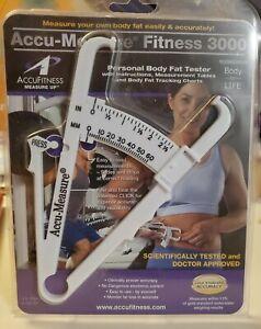 AccuMeasure Fitness 3000 Personal Body Fat Tester Caliper Gold Standard Accuracy