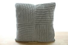 """Hotel Collection 20"""" Square Decorative Pillow Waffle Weave Grey B99354"""