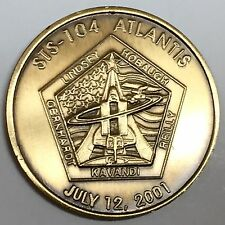 N104      NASA  SPACE  SHUTTLE  COIN /  MEDAL,     ATLANTIS,   STS-104