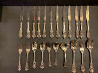 Vtg Baroque by Godinger Silver Plate Set of 22 Pcs