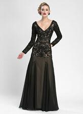 Sue Wong In Black Nude Dress Sz 12