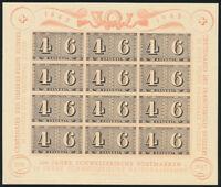 SCHWEIZ 1943, Block 9, tadellos postfrisch, Mi. 110,-