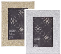 Glitter Photo Frame Sparkling Glitter Effect Picture FreeStanding orWall Mounted