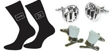 Chefs Gift Set : Chef Hat & Spoon + Cutlery Cufflinks + Chef Trust Me Mens Socks