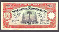 British West Africa 20 Shillings 1949  P-8  VF+ - aXF