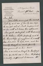 LETTER from O'Donoghue & Anson, Bristol 1900. John Hamilton. Blackpool.  zb.98
