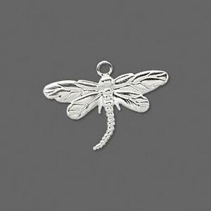 Dragonfly Charms Lightweight Pressed Metal Jewelry Scrapbooking Lot of 10