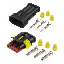 Superseal Wasserdicht Stecker Set 1/2/3/4/5/6-Polig Elektrik Steckverbinder KFZ