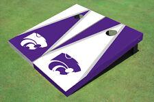 Kansas State University Wildcats Alternating Triangle Custom Cornhole Board