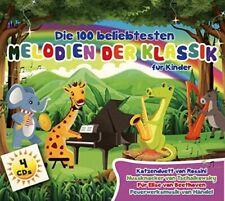 Die 100 beliebtesten Melodien der Klassik für Kinder - 4 CD Box - NEU