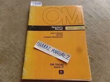 John Deere JD750 Crawler Bulldozer Operator's Manual OM-T60286