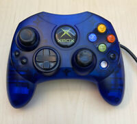 FAST FREE SHIP Original Microsoft Xbox S Controller  Blue With Breakaway TESTED