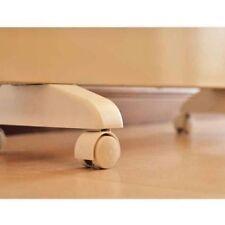 CREAM WHITE Noirot Spot Plus Panel Heater 7358 Casters Wheels Castors NEW
