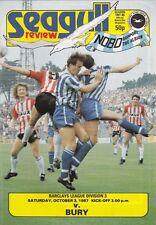 Brighton & Hove Albion v Bury 1987 / 88 Division 3 - October 3rd