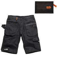 Scruffs Ripstop Trade Cargo Work Shorts Men's & Black Tri-Fold Sports Wallet