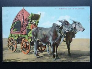 India Rajasthan BULLOCK CAR of Rajputana c1910 Postcard by Arch Works of India