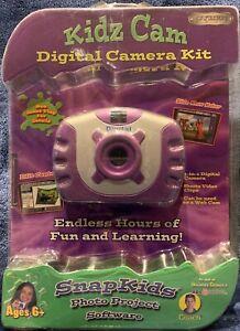 Kidz Cam Purple Digital Camera Kit NEW & Sealed