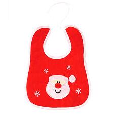 Christmas Baby Newborn Toddler Bib Xmas Nursery Feeding Dribble Santa Claus Gift