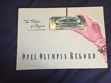 1956 Opel Rekord Color Brochure Catalog Prospekt