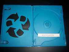 ONE (1) OFFICIAL Nintendo Wii U 2-disc Replacement Case Blue LOGO & Sleeve RARE