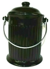 Norpro Ceramic Compost Keeper for the Kitchen Counter Black with Handle