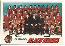 1977-78 OPC O-Pee-Chee Chicago Blackhawks Unmarked Checklist Card #74 Near Mint
