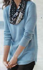 J.Jill  Pullover   Sweater   XL    NWT   $79   Cotton Blend     BLUE