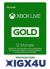 Xbox One XBOX 360 LIVE GOLD Mitgliedschaft 12 Monate Karte Code/12 Month Card!★★