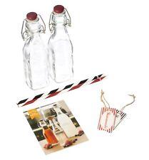 Kilner 0.25lL Cristal Bebidas fabricación botellas, juego de 2
