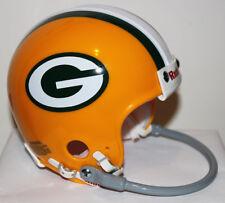 Bart Starr Green Bay Packers Custom Riddell Mini Helmet with 1 Bar Facemask