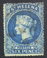 MOMEN: ST HELENA SG #2a ROUGH 1861 USED £140 LOT #5171