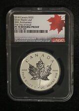 2018 $20 Canada 1 oz Reverse Proof Silver Maple PF70 FDI 30th Anniversary!