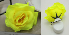 1pcs Romantic Silk Rose Hair Accessory Flower Hairpin Hair Clip For Prom yellow
