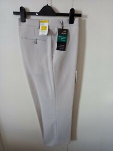 """NEW M&S Performance Men's Stone Formal Trousers W38"""" L27"""" M/C Wash rrp £29.50"""