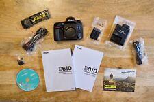 Nikon D610 24.3Mp Digital Slr Camera Body with Original Box and Accessories
