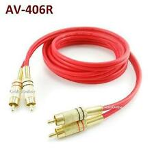 6ft 2-RCA Male/Male Gold-Plated Red Flexible Audio Cable, CablesOnline AV-406R
