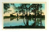 Elkhart Indiana Conns Creek Vintage Postcard