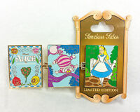 Disney Pin TIMELESS TALES Disneyland Alice in Wonderland Cheshire Cat LE Hinged
