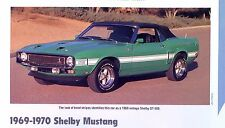 1969 1970 Ford Mustang Shelby GT 500 350 351 428 ci Info/Specs/photo/price 11x8