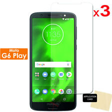 3 Pack of Clear LCD Screen Protector Cover Guards for Motorola Moto G6 Play
