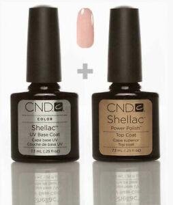 CND Shellac Set Base + Top + Nude Knickers *Versand nach DE 2-3 Tage* UV LED