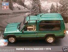TALBOT MATRA SIMCA RANCHO 1978 IXO ALTAYA 1/43 VERTE collection GRUN GREEN VERDE