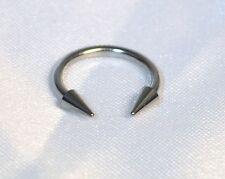 Piercing fer à cheval Spikes5mm,circular,1.6mm oreilles,cartilage,tétons,génital