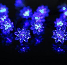 Lotus Flower Solar 5M 20LEDS Fairy String Lights Outdoor Xmas Party Garden Decor