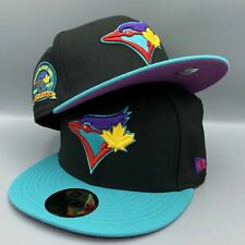 Toronto Blue Jays 40th Season New Era  59FIFTY Black & Mint Fitted Hat Purple Bo