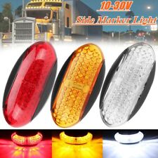 Red/Amber/White LED Side Marker Indicator Light Lamp Car Truck Trailer RV